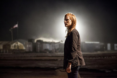 A glowing Jessica Chastain in ZERO DARK THIRTY