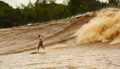 "Berselancar di Gelombang Sungai ""Bono River"" Riau"