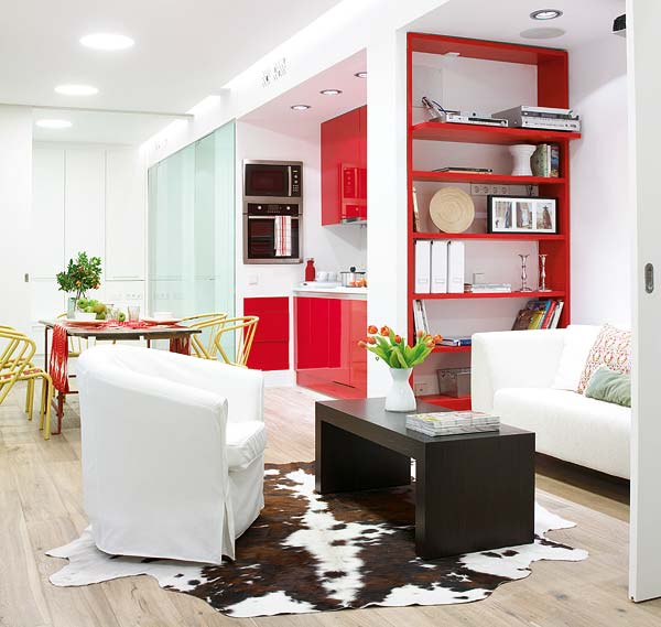 Homies: un loft en blanco y rojo