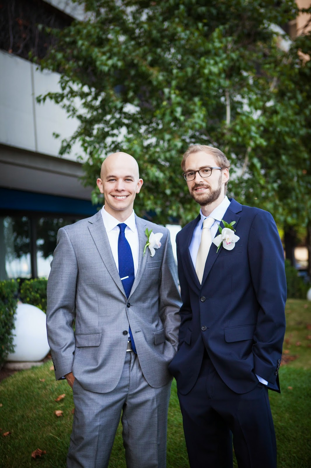 groom and groomsman in chicago
