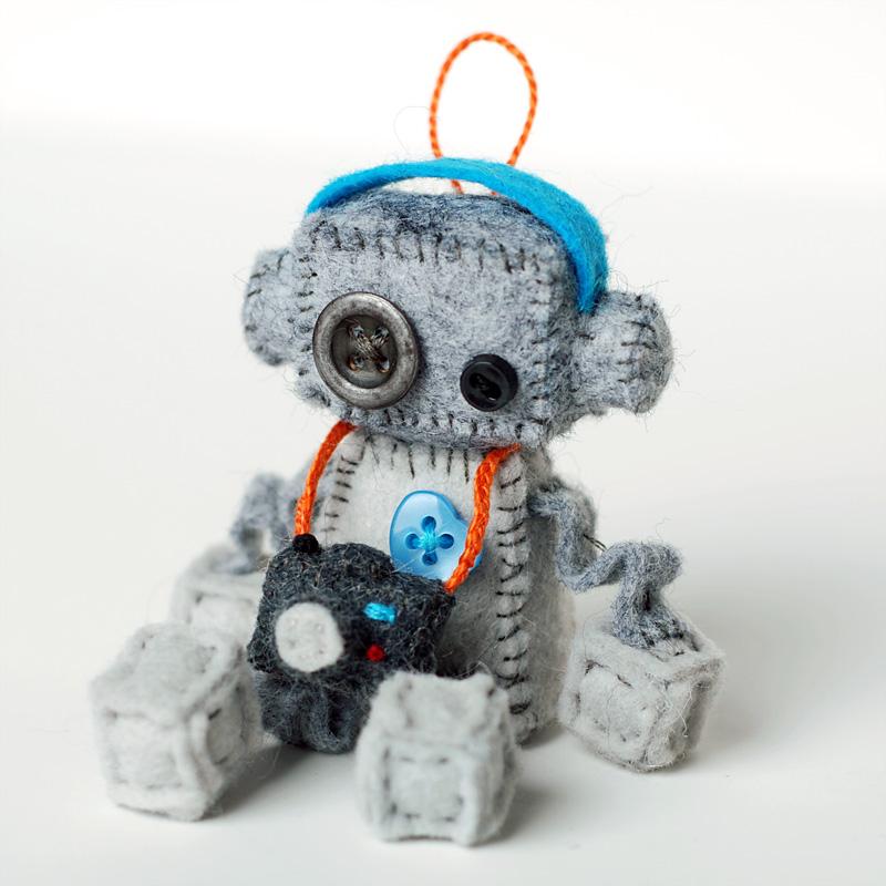 mini robot plush with camera