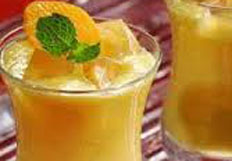 resep praktis (mudah) minuman segar orange lassy spesial, istimewa, sedap, nikmat