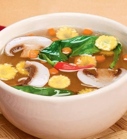 Chinese Vegetable Trio Soup #DiabeticRecipe #soupunder300calories