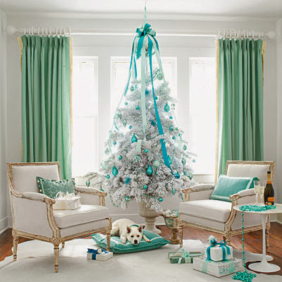Turquoise decoration for Christmas occasion