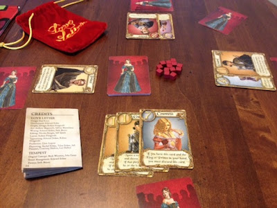 Love Letter card game in play