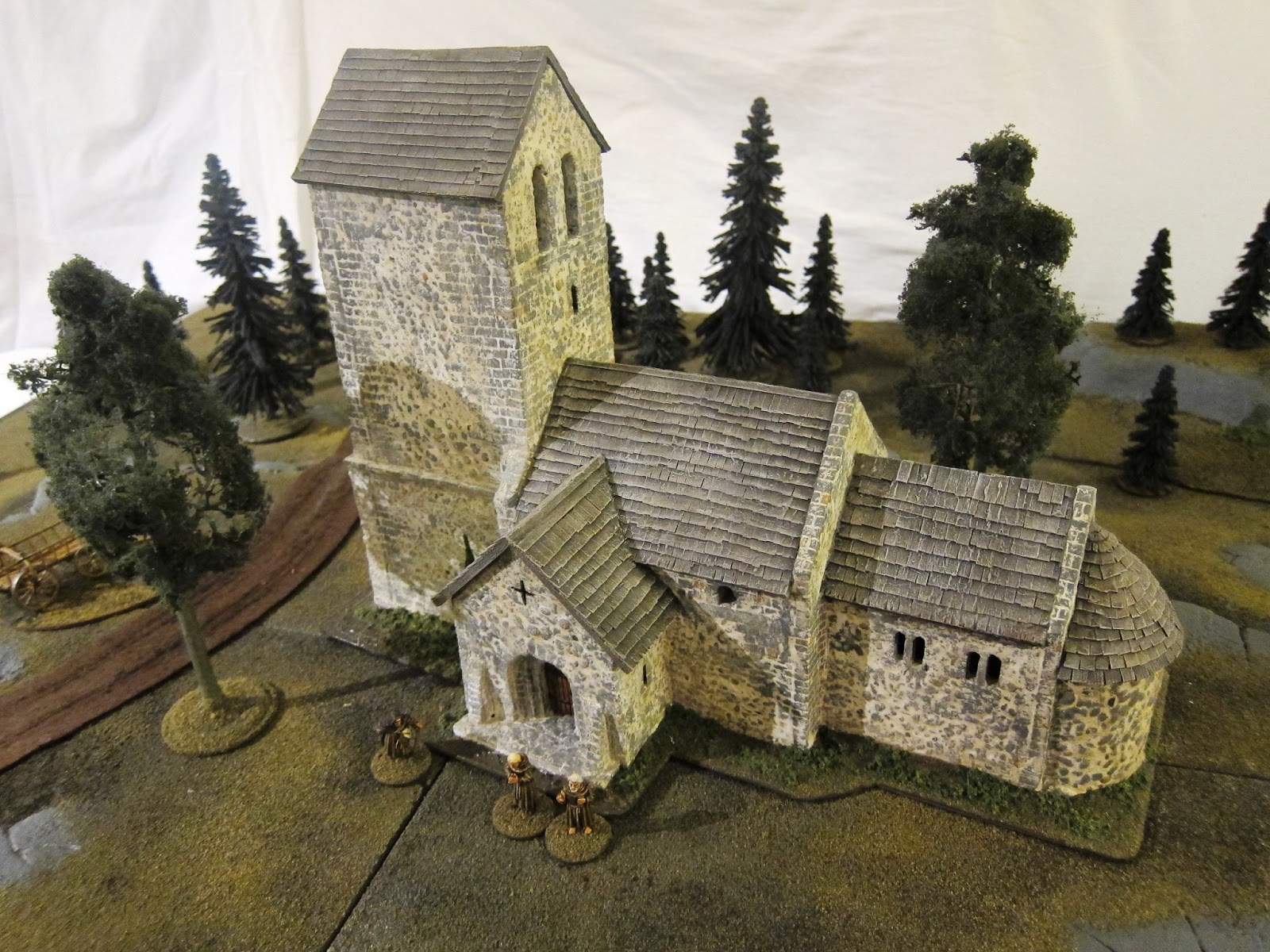 Northern wargaming building a medieval church in 28mm scale for Miniature architecture