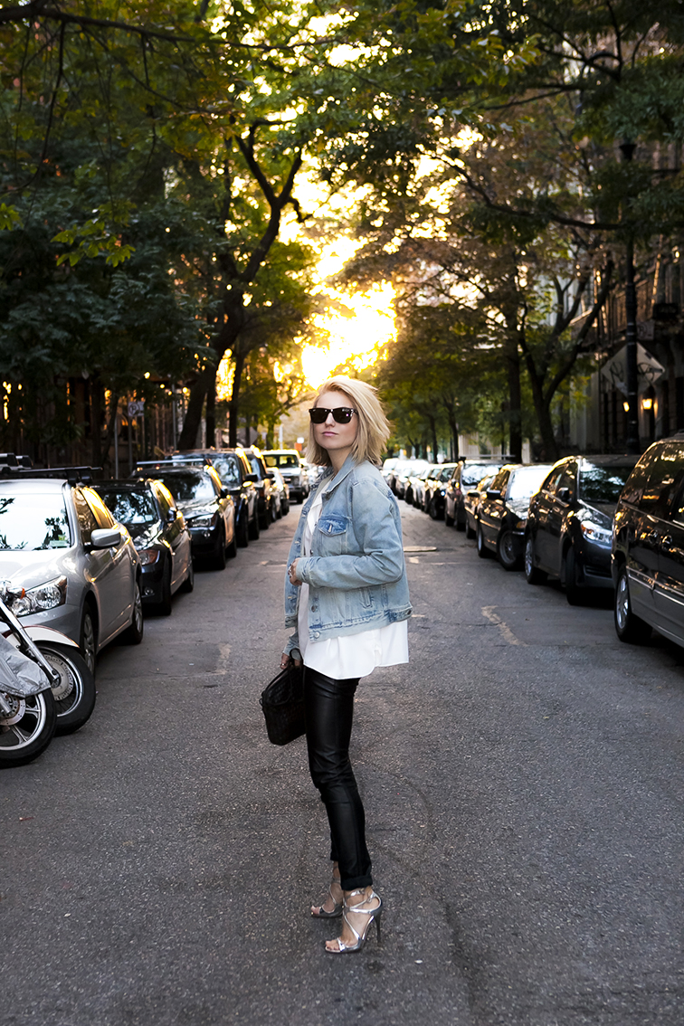 Fashion Over Reason at golden hour in the West Village, New York City, fashion blogger