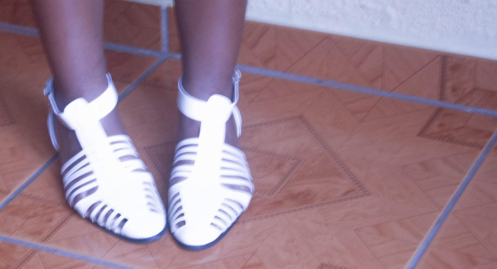 cream fisherman sandals