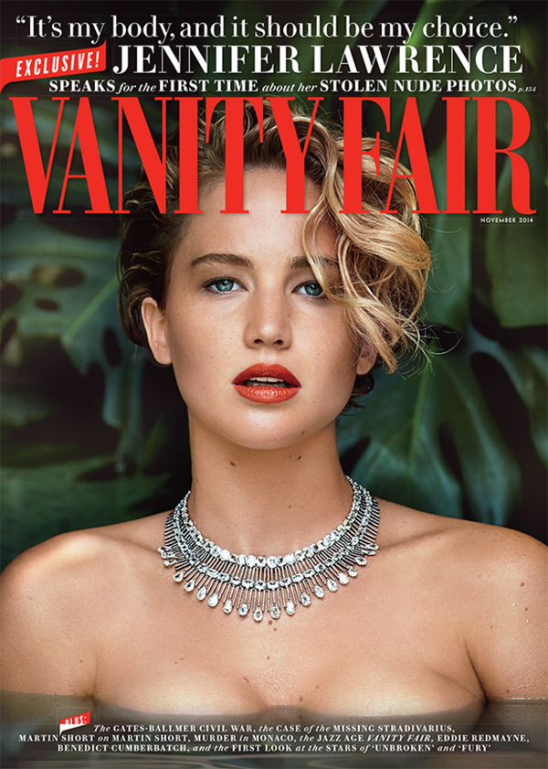 Jennifer Lawrence nude photo hacking vanity fair