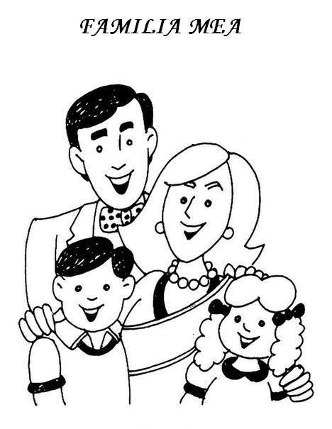 Planse De Colorat Familia Mea