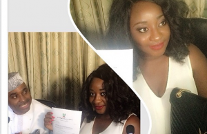 Nollywood Actress Ini Edo offered scholarship to study Law at NOUN