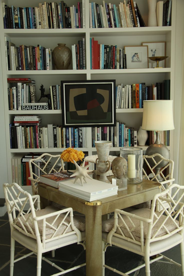 Chinoiserie chic the chinoiserie library dining room for Dining room library
