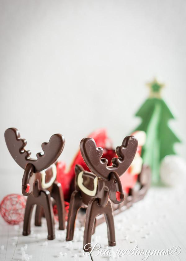 Renos y trineo de chocolate