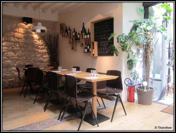 Restaurant JAJA antre du vin carte, rue sainte-croix de la Bretonnerie Paris 3ème