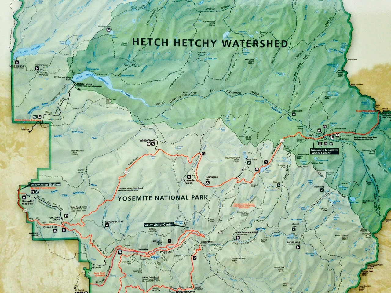 Little Places I Know Hetch Hetchy Valley and Reservoir