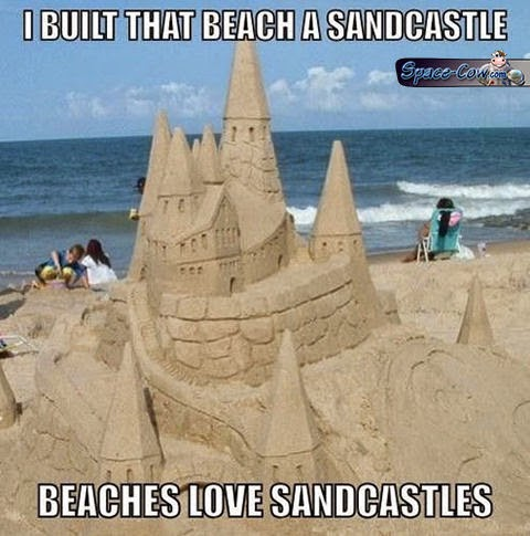 funny things sandcastle pics