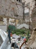 Málaga, solar resultado de demolición de edificio histórico en calle Canasteros 3