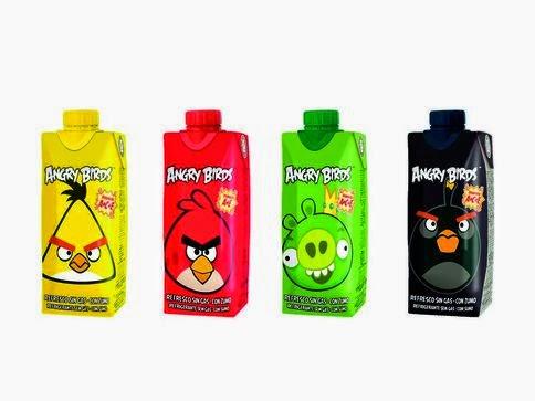 Los 4 modelos de refrescos Juver Angry Birds