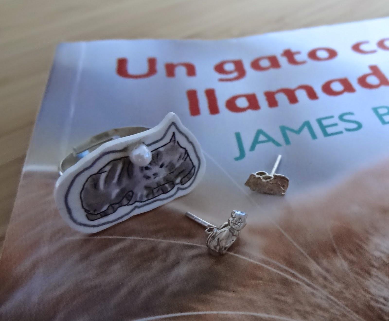 anillos pendientes gato