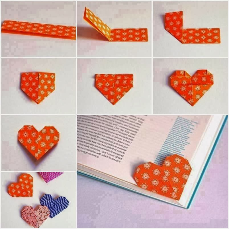 Diy Marque Pages Coeur Diy Heart Bookmark Creamalice Do It Yourself