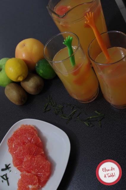 Recette de thé à l'orange et au pamplemousse