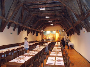 """CABARET Hall :- """"U Medvidku beer hall pub"""" which is the oldest beer pub in Czechoslovakia ."""
