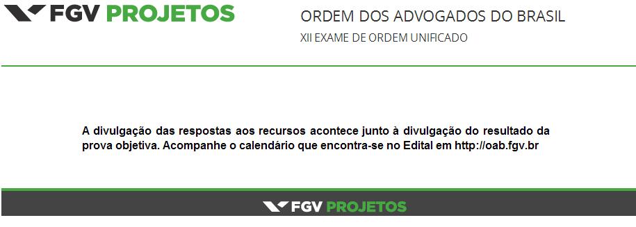 Exame de ordem oab fgv
