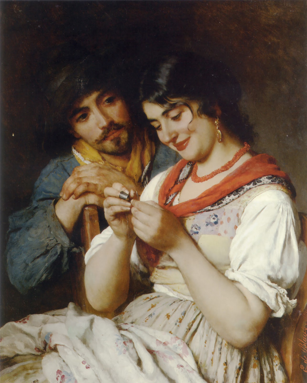 Eugene de  laas The Seamstress