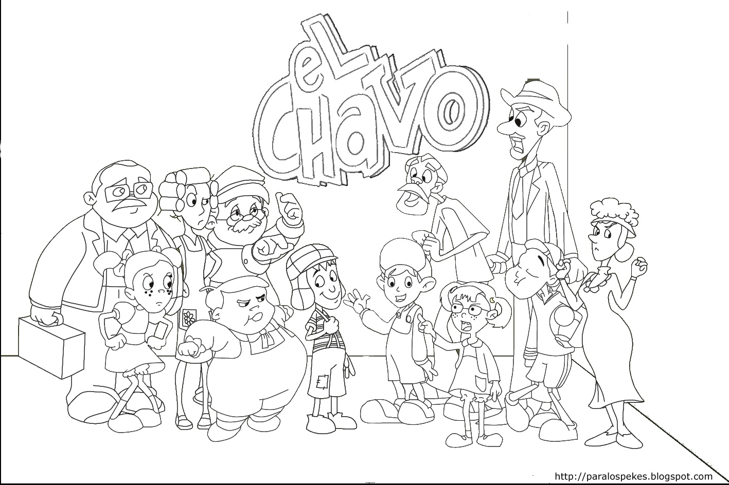 chavo coloring pages - photo#3