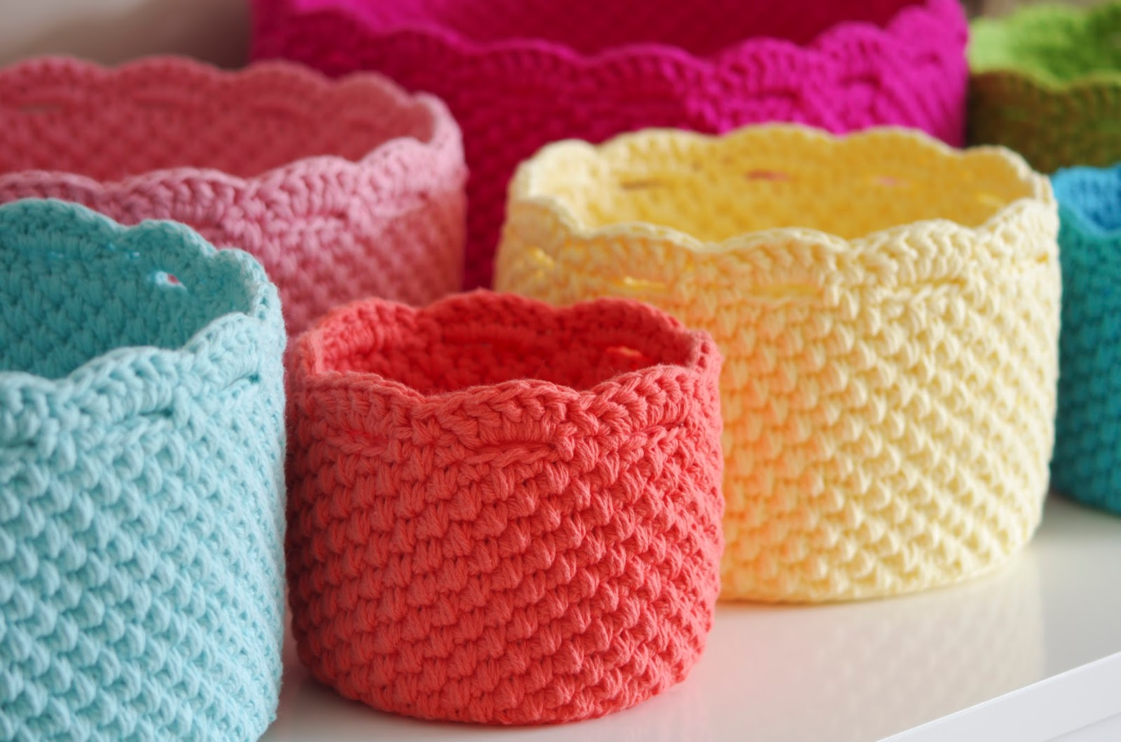 Crochet Stitches Basket : Handy Crafter...: Nest of Nesting Baskets