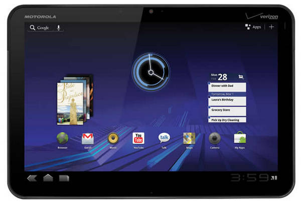 Motorola+XOOM+2+front+view+image+picture Top 5 Best Android Tablets in 2012