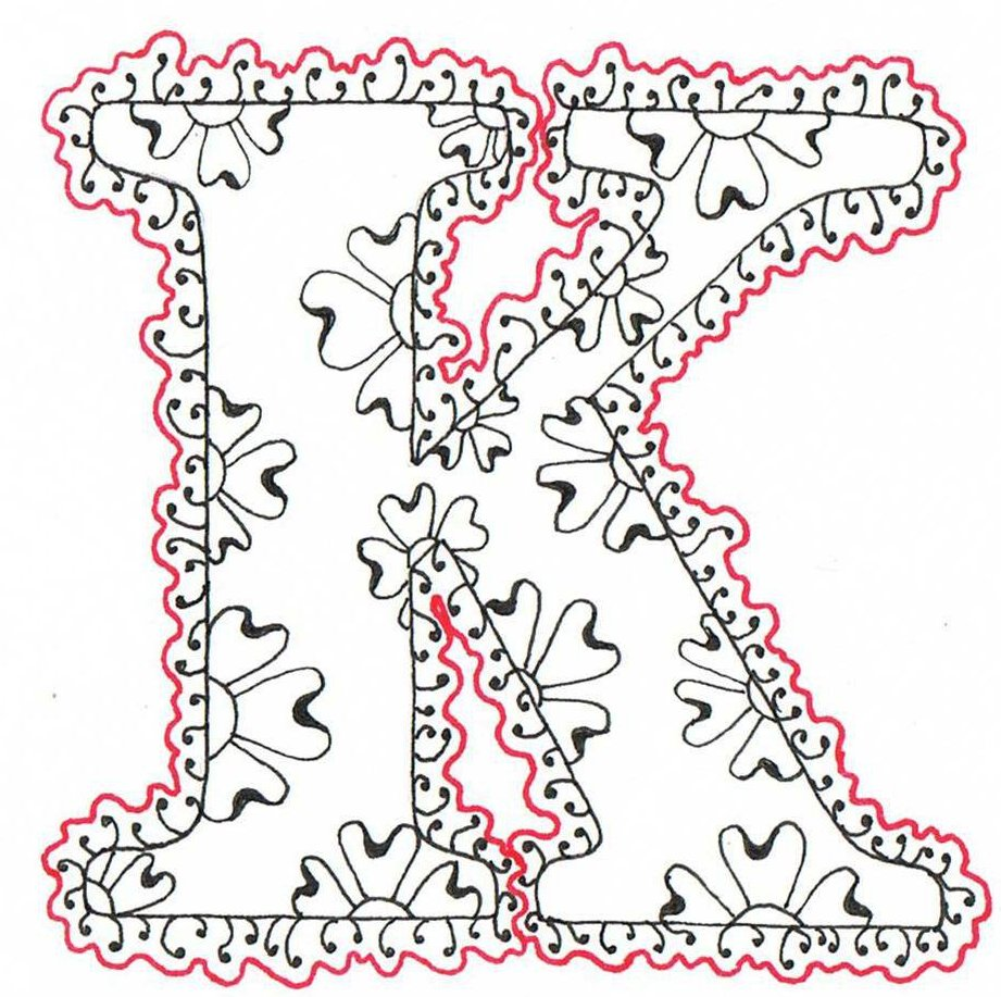 Creative doodling with judy west lacy flower alphabet for Copy design