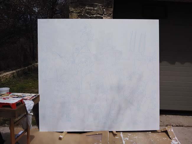 Panel en blanco