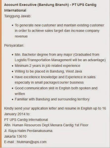 lowongan kerja ups carding international