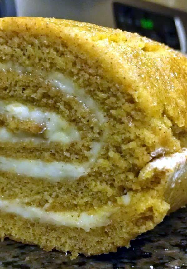 Easy Spiced Pumpkin Cake Roll Recipe