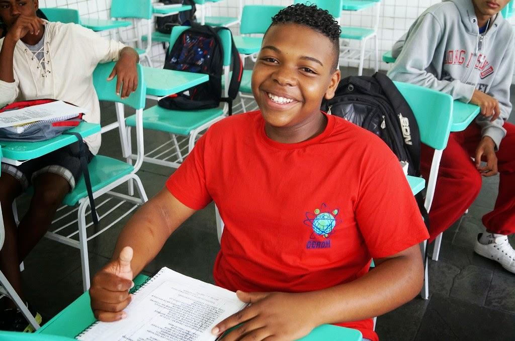 O aluno Wendel Carlos aprova a forma de ensinar do professor Vianna