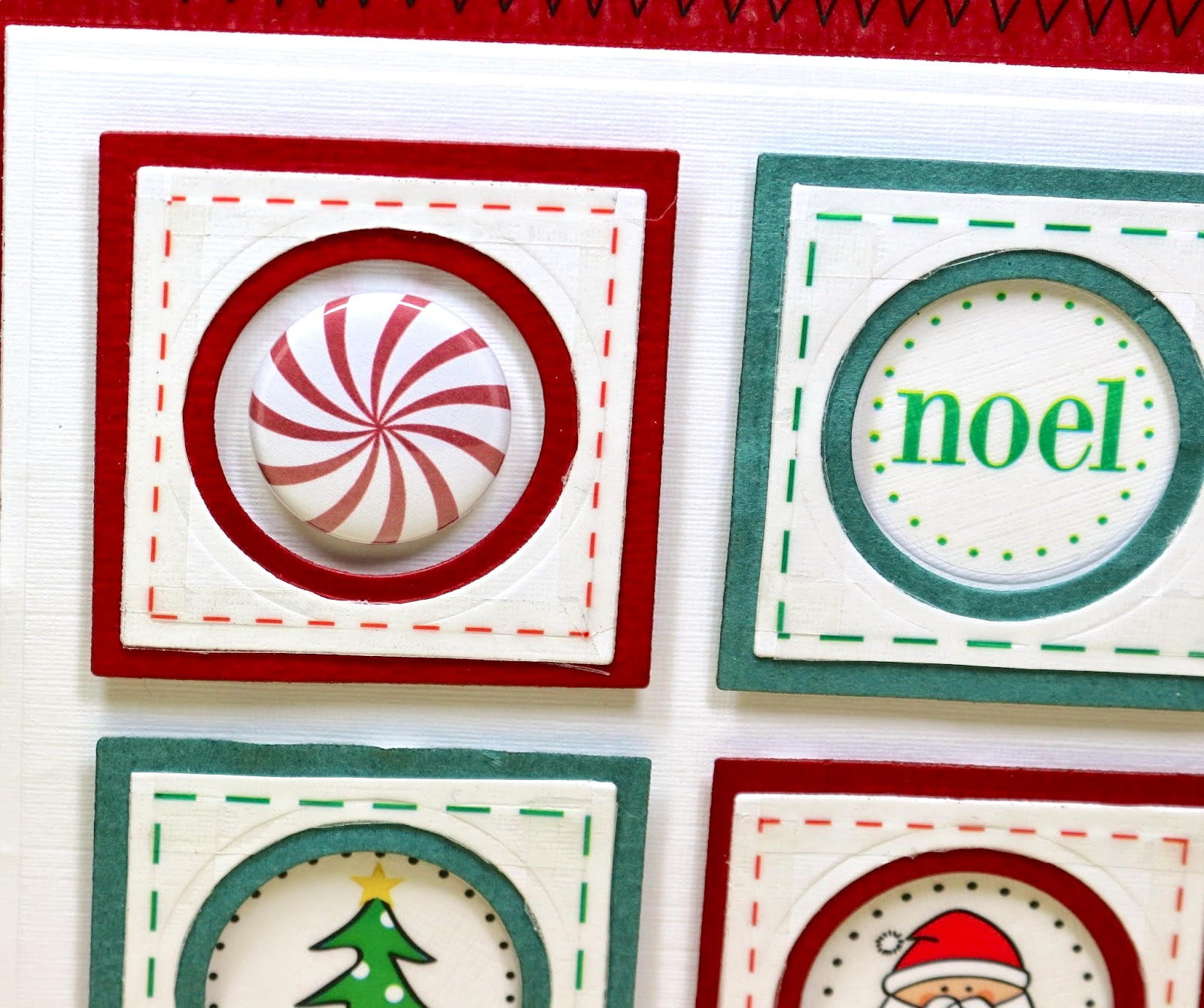 SRM Stickers Blog - A Bossy Joscie Christmas Card by Cathy A.- #srmpress #srmstickers #card #christmas #flair #bossyjoscie #stickers #stitches