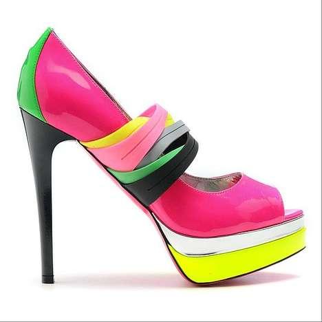 Neon Shoes Trend 2012 Krazy Fashion Rocks #0: neon pink pumps