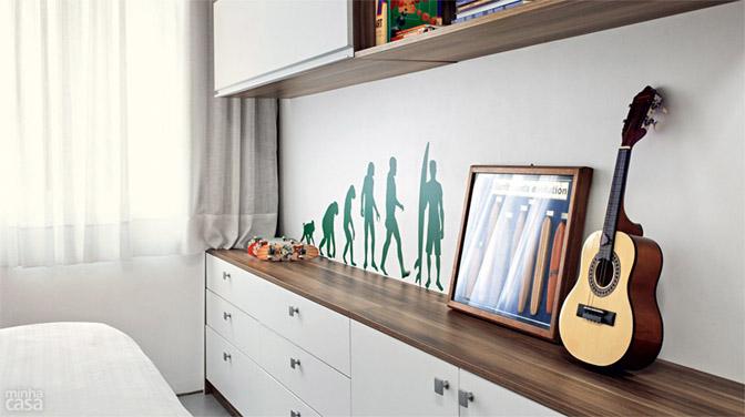 07 quitinete de 26 m2 aposta em moveis planejados e integracao de ambiente Boas ideias para apartamento pequeno ou quitinete!