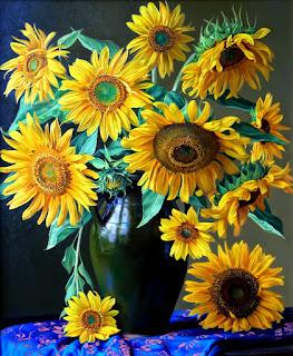 Girasoles Flores Pinturas Al Oleo