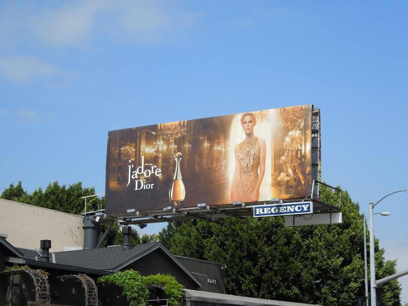 Charlize Theron JAdore Dior billboard