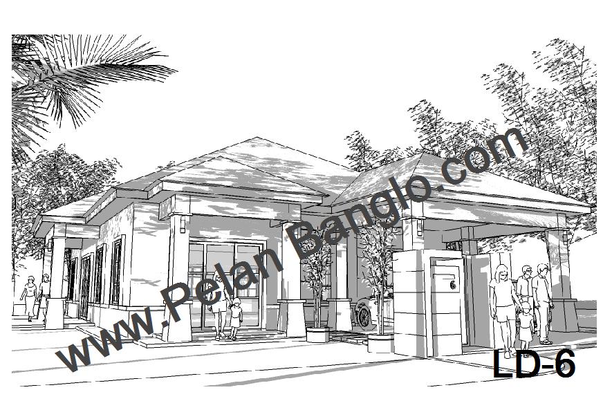 Pelan Rumah Idaman Anda (Plan Bungalow - Home Plan - Pelan Banglo)