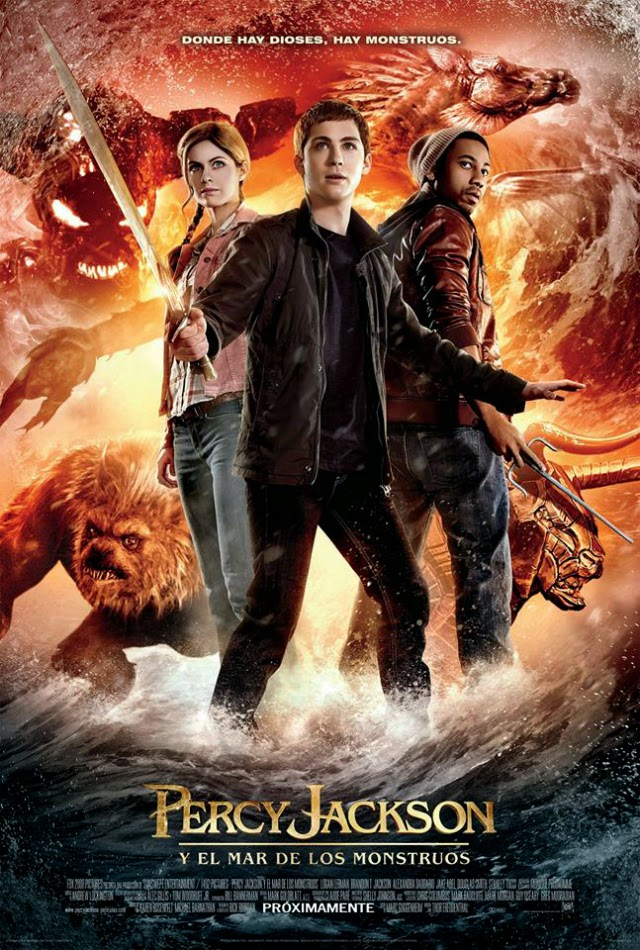 La película Percy Jackson Sea of Monsters ( Percy Jackson y el mar de los monstruos )