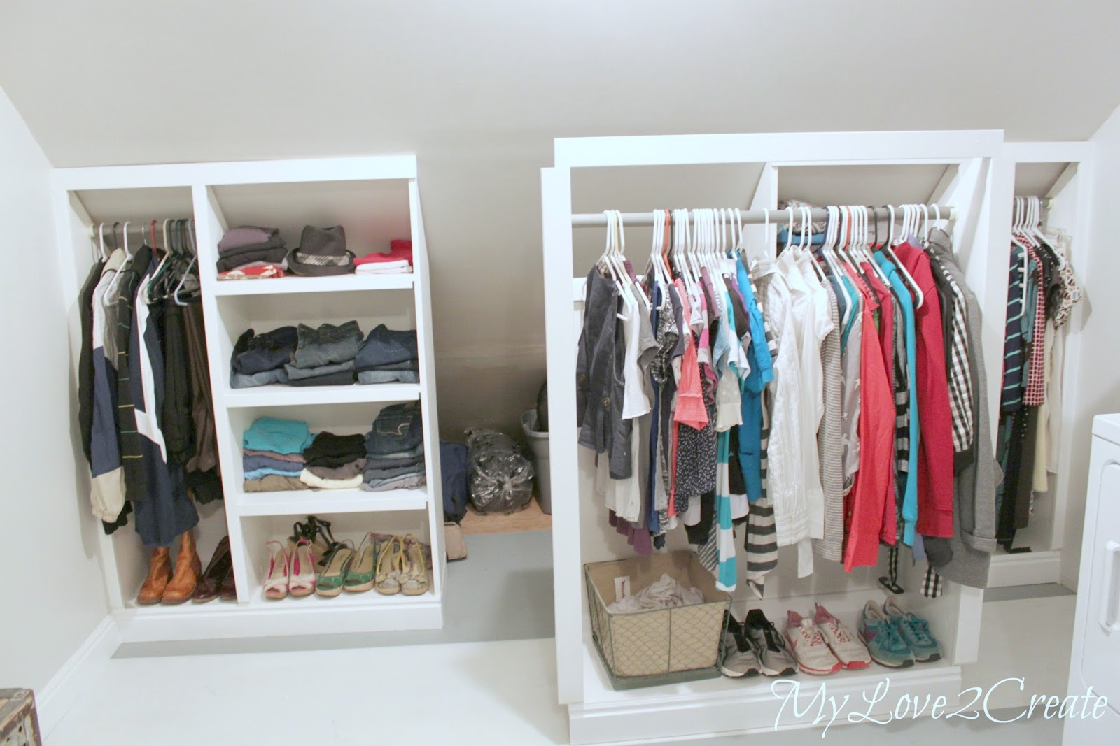 Slanted Wall Built Ins With Hidden Storage My Love 2 Create