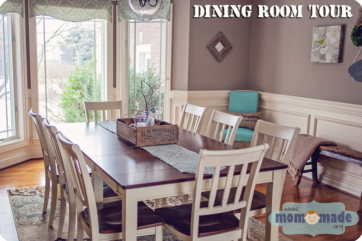 Rustic Cottage Dining Room Tour by Mom-Made