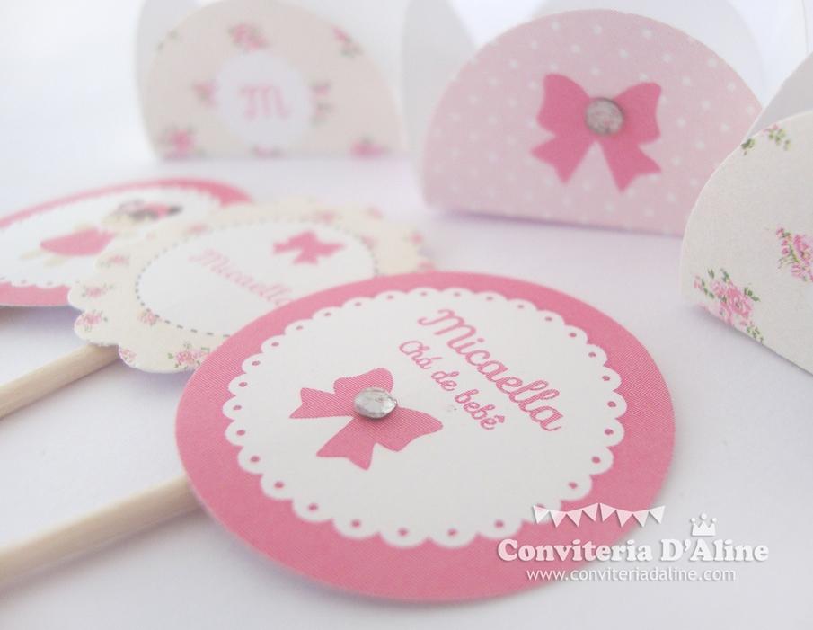decoração chá de bebê boneca rosa