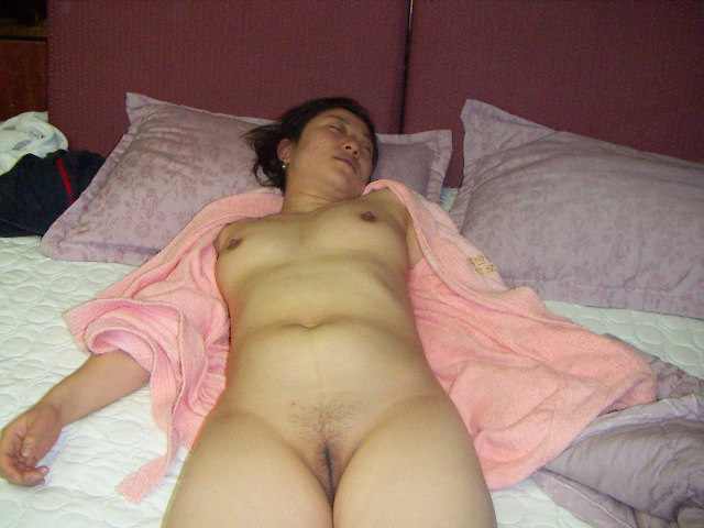 Flat chest wife sex in woods