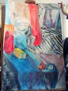 Malarstwo. Wczoraj miałam pierwsze zajęcia z malarstwa, nawet fajnie się .