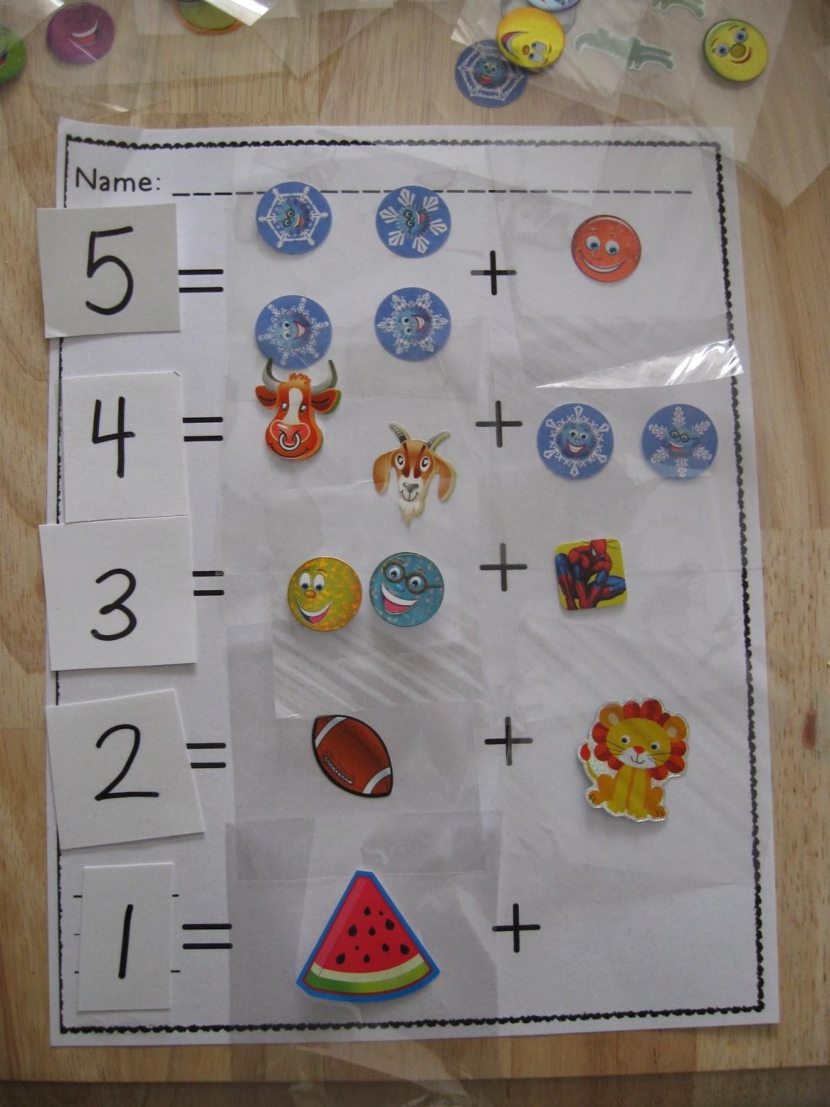 Crayons & Cuties In Kindergarten: Compose, Decompose, Add & Subtract ...