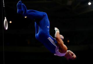 Jake Dalton competes on the rings during day 1 of the 2012 U.S. Olympic Gymnastics Team Trials at HP Pavilion on June 28, 2012 in San Jose, California. (June 27, 2012 - Source: Ronald Martinez/Getty Images North America)
